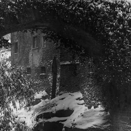 Ponte Vecchio innevato 1905