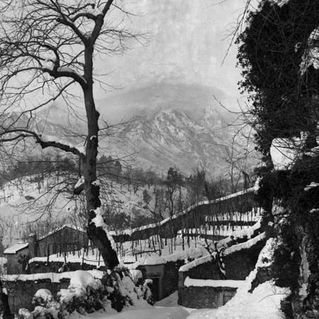 paesaggio innevato 1905, Ponte della Pandeggia, Bagnone