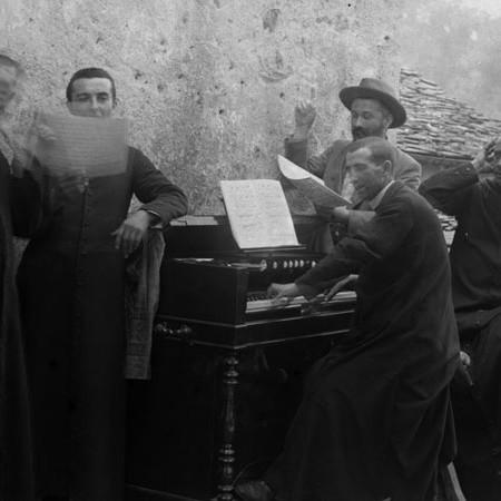 Gruppo di musicisti, festa di San Pietro 1902