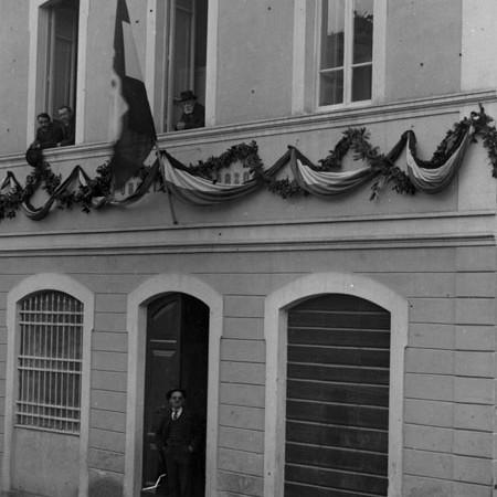 Casa del pubblico Soccorso di Bagnone, inaugurazione 1921